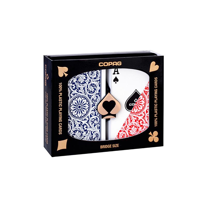 Jeu de cartes Copag 1546 Plastic Rouge/Bleu wwww.jeux2cartes.fr