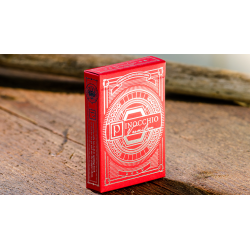 Pinocchio Vermilion Playing Cards (Red) by Elettra Deganello wwww.jeux2cartes.fr