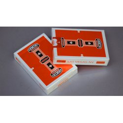 Gemini Casino Orange Playing Cards by Toomas Pintson wwww.jeux2cartes.fr