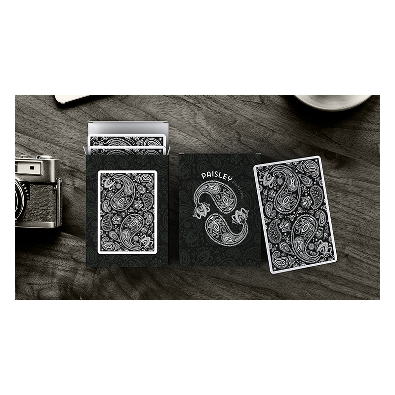 Paisley Playing Cards Workers Deck Black by Dutch Card House Company wwww.jeux2cartes.fr