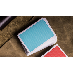 Steel Playing Cards (Blue) by Bocopo wwww.jeux2cartes.fr