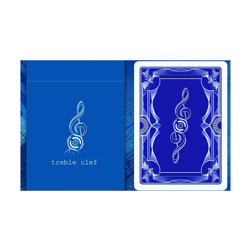 Treble Clef (Blue) Playing Cards wwww.jeux2cartes.fr
