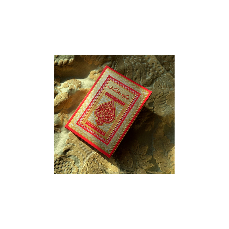 ARABESQUE Playing Cards - Player's Edition (Red) by Lotrek wwww.jeux2cartes.fr