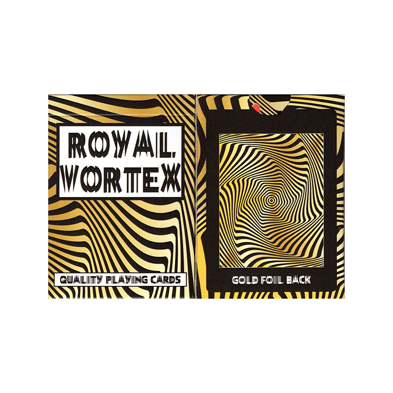 Royal Vortex Gold Foil Playing Cards Gemaco wwww.jeux2cartes.fr