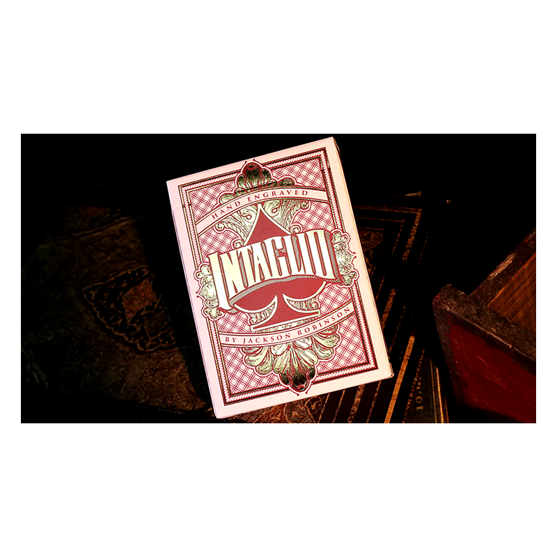 Intaglio Red Playing Cards by Jackson Robinson wwww.jeux2cartes.fr