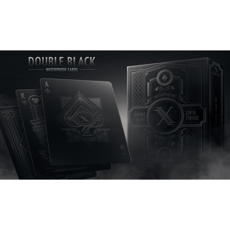 Double Black Waterproof Playing Cards wwww.jeux2cartes.fr