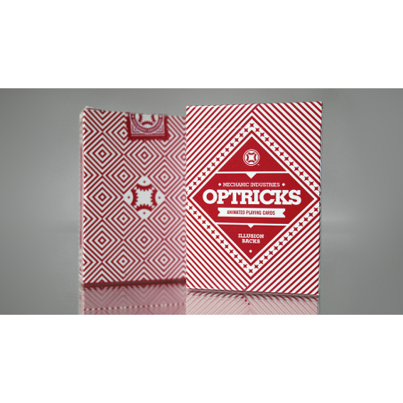 Mechanic Optricks (Red) Deck by Mechanic Industries wwww.jeux2cartes.fr