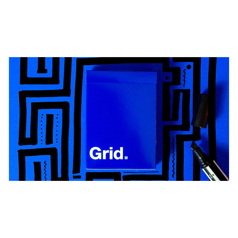Grid Series Two - Typographic Playing Cards wwww.jeux2cartes.fr
