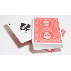 Superior Skull & Bones V2 (Red/Silver) Playing Cards by Expert Playing Card Co. wwww.jeux2cartes.fr