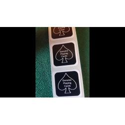 BLACK New Deck Stickers (100 SEALS) wwww.jeux2cartes.fr