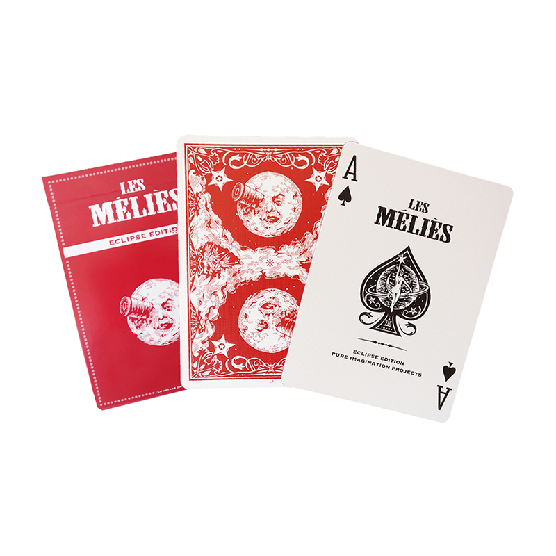 Les Méliés Red Eclipse Playing Cards by Pure Imagination Projects wwww.jeux2cartes.fr