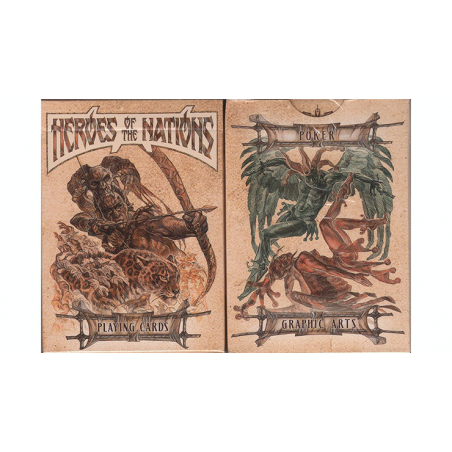 Heroes of the Nations (Dark Version) Playing Cards wwww.jeux2cartes.fr