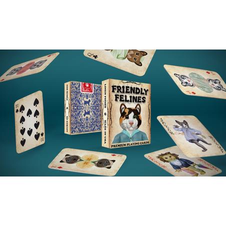 Friendly Feline Playing Cards wwww.jeux2cartes.fr