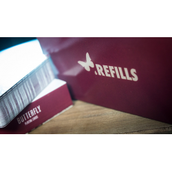 Refill Butterfly Cards Red (6 pack) by Ondrej Psenicka wwww.jeux2cartes.fr