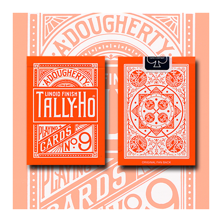 Tally Ho Reverse Fan back (Orange) Limited Ed. by  Aloy Studios / USPCC wwww.jeux2cartes.fr