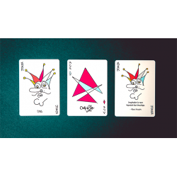 Red Stripe Playing Cards wwww.jeux2cartes.fr
