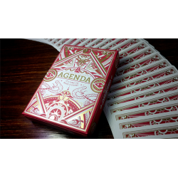 Agenda Red Premium Edition Playing Cards wwww.jeux2cartes.fr