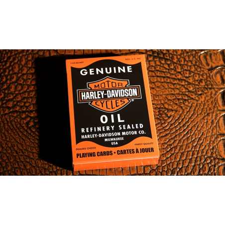 Harley Davidson Oil Playing Cards By USPCC wwww.jeux2cartes.fr