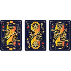 Calaveras de Azúcar Blue Edition Playing Cards Printed by USPCC wwww.jeux2cartes.fr