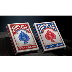 Bicycle Standard Playing Cards in Mixed Case Red/Blue(12pk)with individual hang tabs on deck by USPCC wwww.jeux2cartes.fr