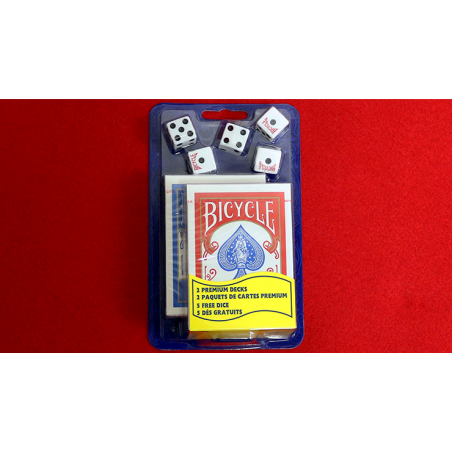 Bicycle 2 Decks Standard Poker and 5 Dice Set wwww.jeux2cartes.fr