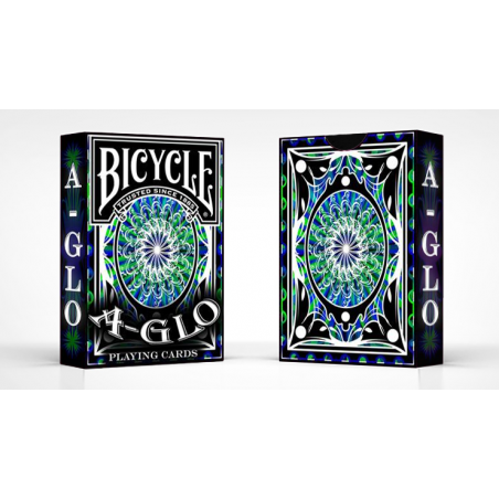 Bicycle A Glo Playing Cards (Blue) wwww.jeux2cartes.fr