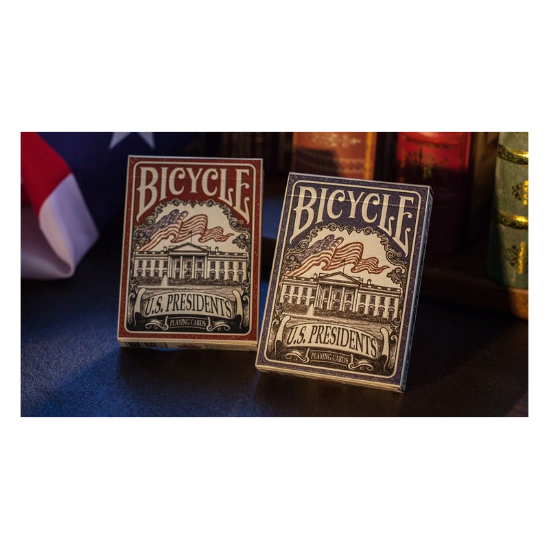 Bicycle U.S. Presidents Playing Cards (Democratic Blue) by U.S. Playing Card Company wwww.jeux2cartes.fr