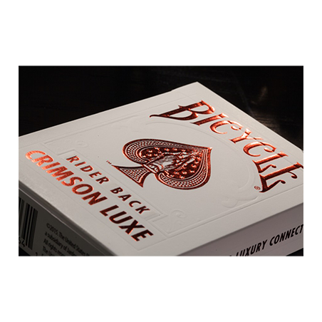 Bicycle Rider Back Crimson Luxe (Red) by US Playing Card Co wwww.jeux2cartes.fr