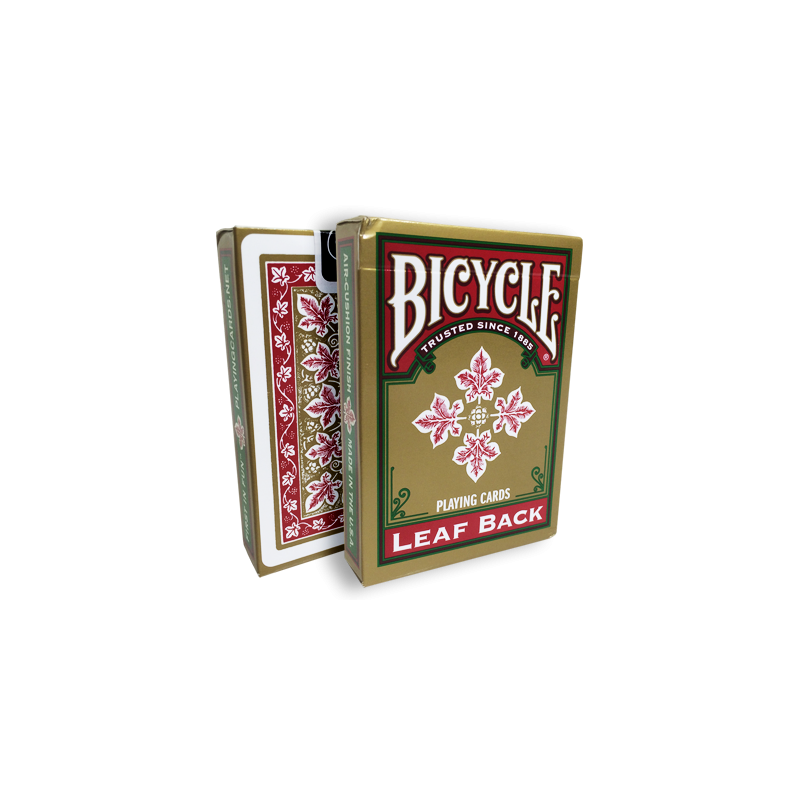 Bicycle Leaf Back Deck (Red) by Gambler's Warehouse wwww.jeux2cartes.fr