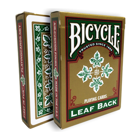 Bicycle Leaf Back Deck (Green) by Gambler's Warehouse wwww.jeux2cartes.fr