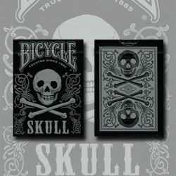 Bicycle Skull Metallic (Silver) USPCC by Gambler's Warehouse wwww.jeux2cartes.fr