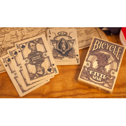Bicycle Civil War Deck (Blue) by US Playing Card Co - Trick wwww.jeux2cartes.fr