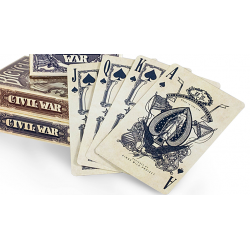 Bicycle Civil War Deck (Red) by US Playing Card Co wwww.jeux2cartes.fr
