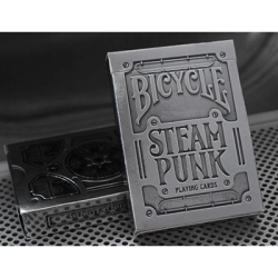 Bicycle Silver Steampunk Deck by USPCC wwww.jeux2cartes.fr