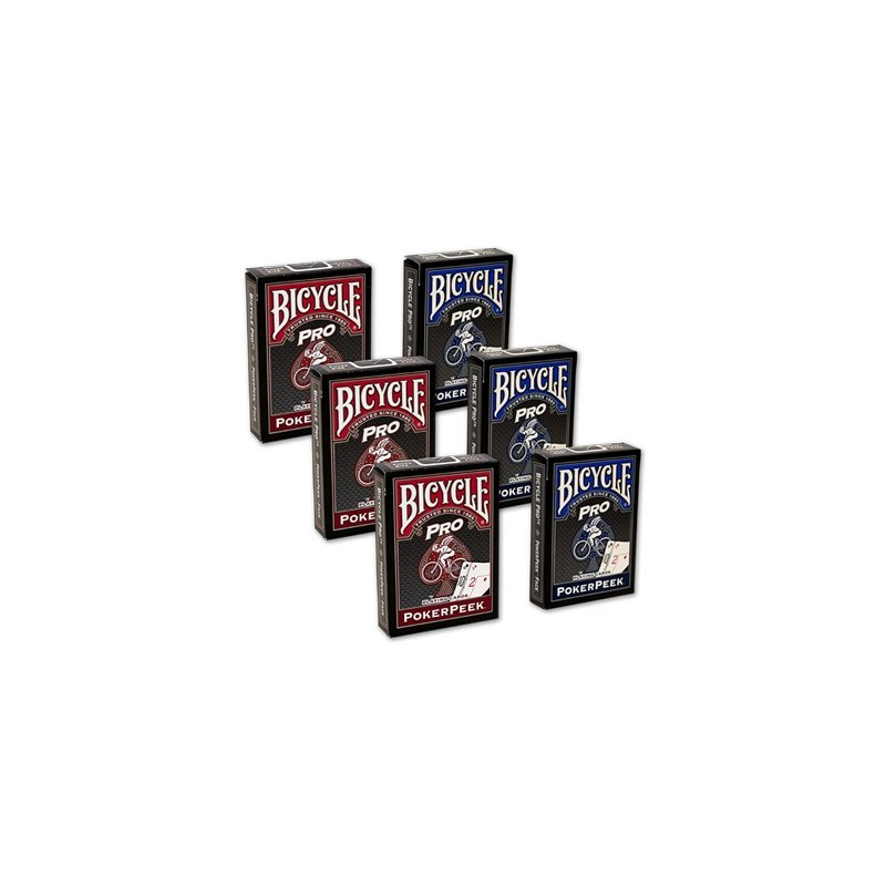 Cards Bicycle Pro Poker Peek - 6 PACK (Mixed) USPCC wwww.jeux2cartes.fr