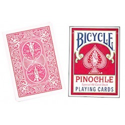 Cards Bicycle Pinochle Poker-size (Red) wwww.jeux2cartes.fr
