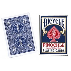 Cards Bicycle Pinochle Poker-size (Blue) wwww.jeux2cartes.fr