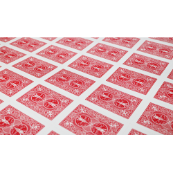 Bicycle Poker Cards Uncut Sheets (Red) wwww.jeux2cartes.fr