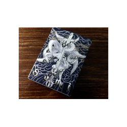 Sumi Kitsune Myth Maker (Blue) Playing Cards by Card Experiment wwww.jeux2cartes.fr