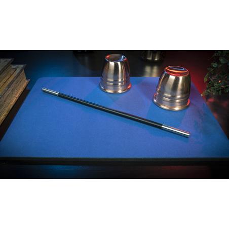 Tapis de cartes 28cm X 40cm Deluxe (Bleu) wwww.jeux2cartes.fr