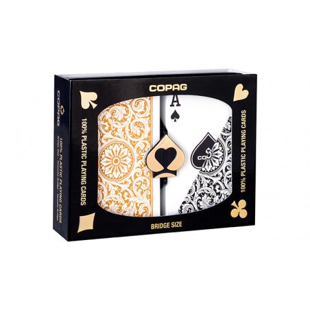 Jeu de cartes Copag 1546 Plastic Or/Noir wwww.jeux2cartes.fr