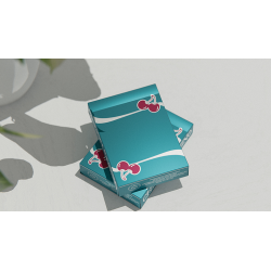 Cherry Casino (Tropicana Teal) Playing Cards by Pure Imagination Projects wwww.jeux2cartes.fr