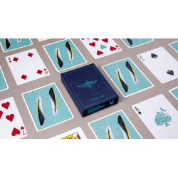 Feather Deck: Goldfinch Edition (Teal) by Joshua Jay wwww.jeux2cartes.fr