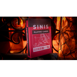 Sinis (Raspberry and Black) Playing Cards by Marc Ventosa wwww.jeux2cartes.fr