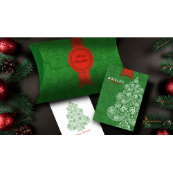 Paisley Metallic Green Christmas Playing Cards by Dutch Card House Company wwww.jeux2cartes.fr