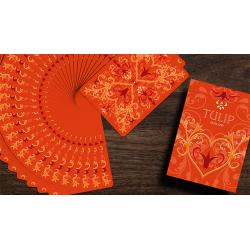 Tulip Playing Cards (Orange) by Dutch Card House Company wwww.jeux2cartes.fr
