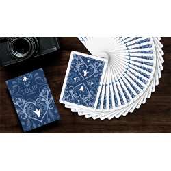 Tulip Playing Cards (Dark Blue) by Dutch Card House Company wwww.jeux2cartes.fr