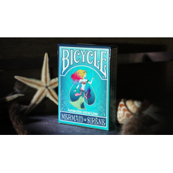 Mermaid Playing Cards (Turquoise) by US Playing Card Co wwww.jeux2cartes.fr