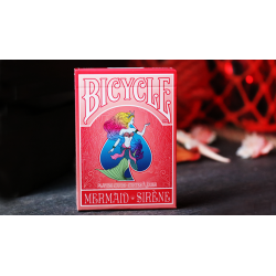 Mermaid Playing Cards (Red) by US Playing Card Co wwww.jeux2cartes.fr